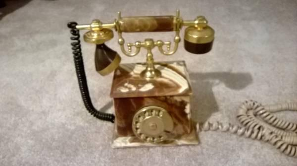 Alabaster Antique Phone - $100