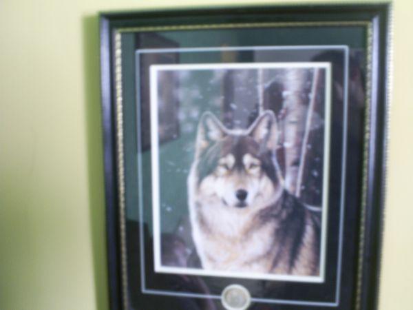 Alaskan Gray Wolf Art (Alaskan Artist: Kathy Walbaum) -