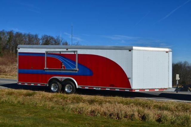 All Aluminum 28ft 24 4 Sooner Enclosed Trailer Custom Paint For Sale In Balm North Carolina