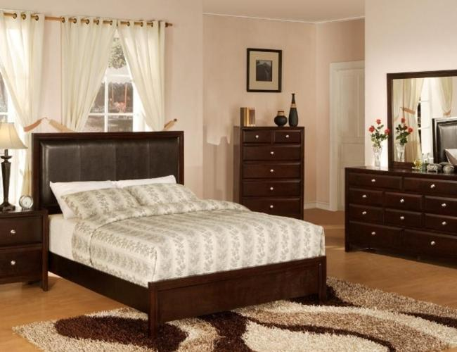 all new contemporary upholstered headboard 7pc wood bedroom set