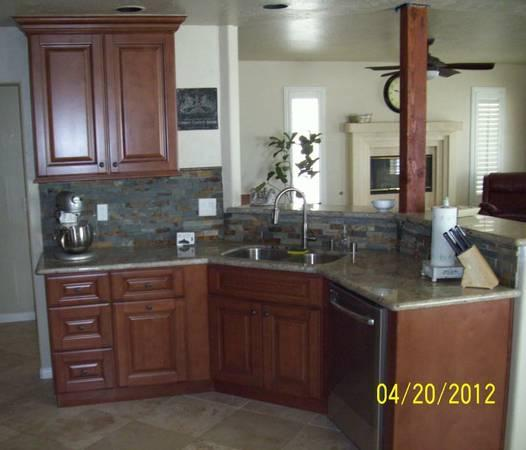 All wood maple mocha or coffee kitchen cabinets for 10x10 for All american kitchen cabinets