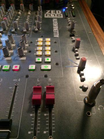Allen & Heath Zed R16 Studio console mixer with walnut