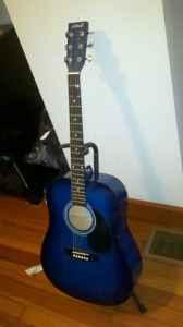 Almost New Asheville Acoustic Guitar W Stand Awesome