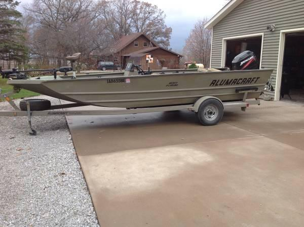 Alumacraft 2072 fishing and duck boat for sale in lone for Fishing boats for sale in iowa