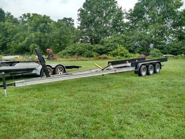 aluminum 36 ft triple axle boat trailer americanlisted_73156073 pontoon boat trailers trailers & mobile homes for sale in missouri