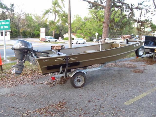 aluminum jon boat g3 1442 yamaha 4 stroke 20 hp flawless