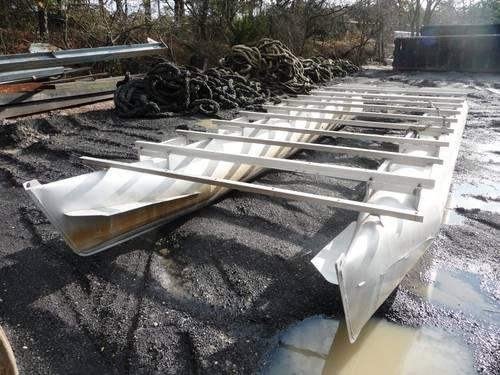 Aluminum pontoon boat barge frame for sale in bayville for Fish house frames for sale