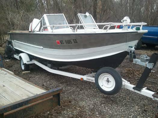 Aluminum v haul boat console steering 16 39 for sale in for Best aluminum fishing boat for the money
