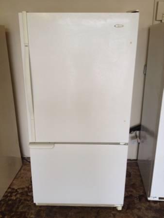 Amana Bottom Freezer Refrigerator White Graffitiz