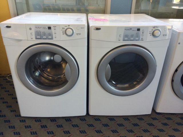 amana front load washer u0026 dryer set pair used