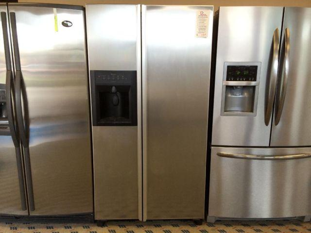 Amana Stainless Side By Side Refrigerator Freezer Used