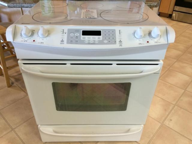 Amana Stainless Smooth Top Range Stove Oven