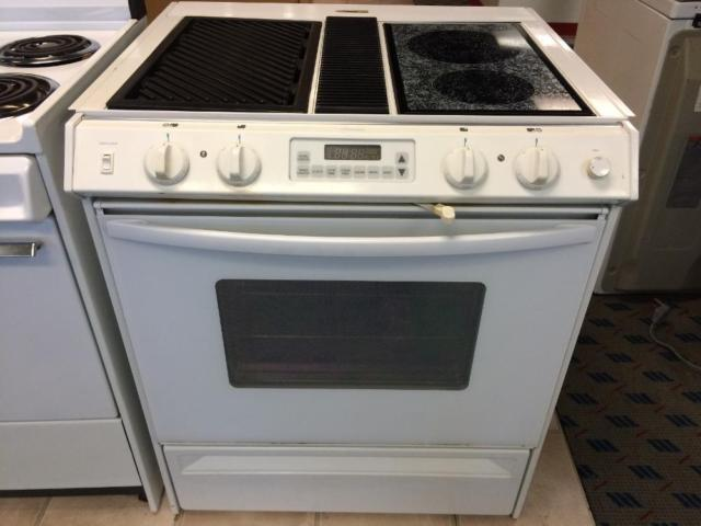 Amana White Slide-In Downdraft Range Stove Oven - USED for ...