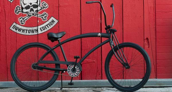 Amazing HBBC Skullxbones Downtown BEACH CRUISER BIKE SALE