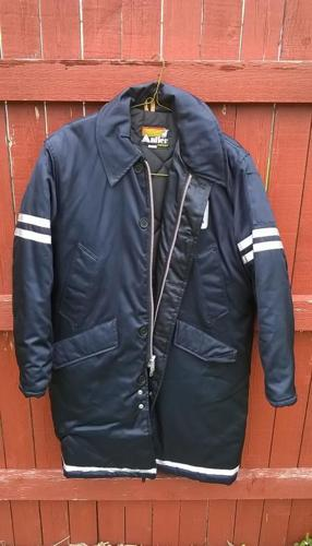 AMERICAN AIRLINES flight crew jacket firemans long length vintage