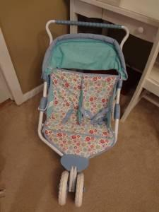 American Girl Bitty Baby Twin Dolls Double Stroller Side By Side ...