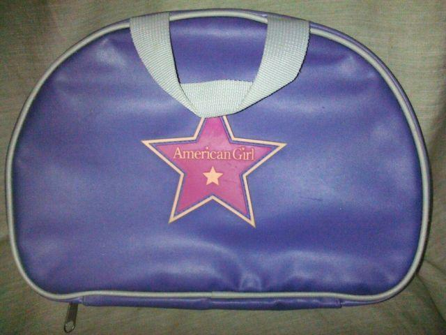American Girl Doll DREAM TOTE BAG Zip up Carrying Case  Purple  Gray