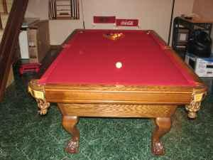 Billiard Table Classifieds Buy Sell Billiard Table Across The - Claw foot pool table