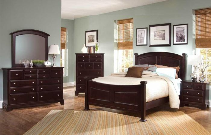 American made bedrooom set merlot by vaughn basset for Local furniture for sale