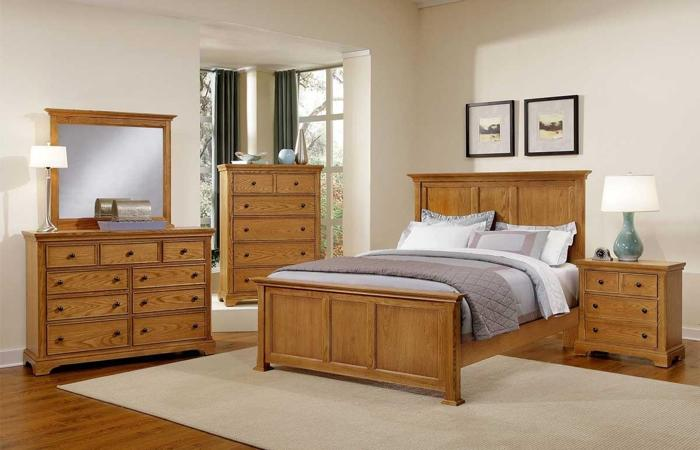 Made OAK Bedroom Set Forsyth By Vaughn Basset Zanesville For Sale