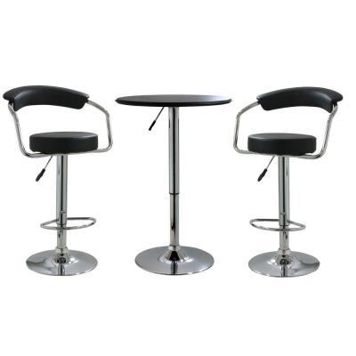 Enjoyable Amerihome 33 In Adjustable Bar Stool Set With Adjustable Table 3 Piece Ibusinesslaw Wood Chair Design Ideas Ibusinesslaworg