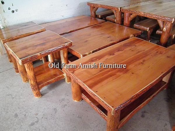 amish furniture barnwood log xl coffee end tables shelf rustic smicksburg pa for sale in. Black Bedroom Furniture Sets. Home Design Ideas