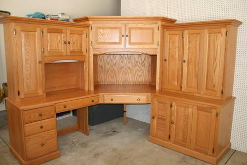 amish made large oak corner desk for sale in clarksfield ohio classified. Black Bedroom Furniture Sets. Home Design Ideas