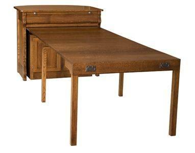 Amish Furniture Console Buffet With Pullout Dining Table