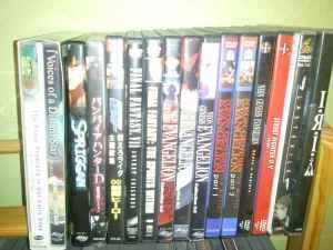 Anime DVD Collection: Eva, Bebop, Escaflowne, and more