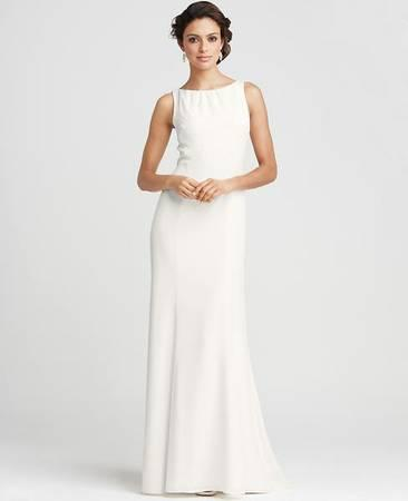 Ann Taylor Ivory Wedding Gown - $189