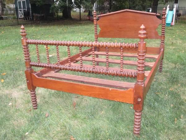 Antique 18 Original Jenny Lind Spindle Double Full 34 Bed For