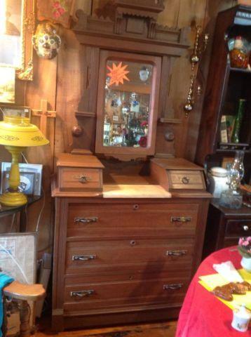 Antique 1870 S Eastlake Dresser Amp Mirror For Sale In