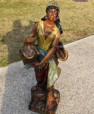 Antique 1893 World's Fair J. Koenig Uriela Statue