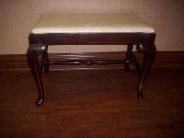 Antique 1920 39 S Solid Mahogany Piano Bench Organ Vanity Seat For Sale In Springfield New