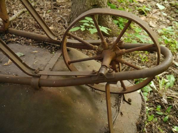 Antique 1920s Wv Coal Miner S Wheelbarrow All Metal Wheel