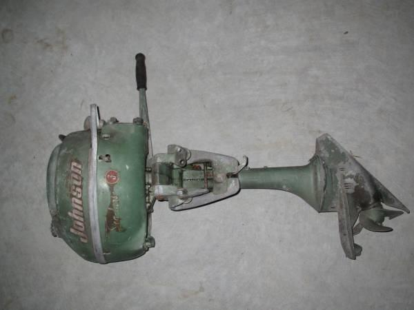 Antique 1952 Johnson Seahorse 3 Outboard Motor For Sale