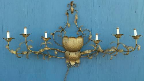 Antique 1960's lighted wall sconce retro 60's wall