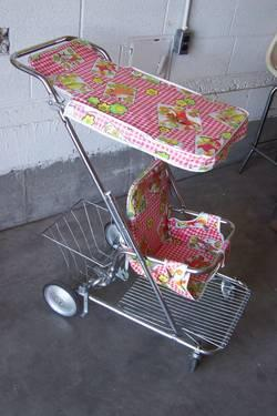 Antique 1960 S Taylor Tot Baby Stroller W Rear Basket For