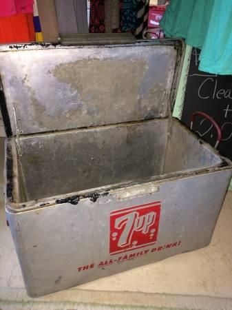 Antique 7up Cooler For In