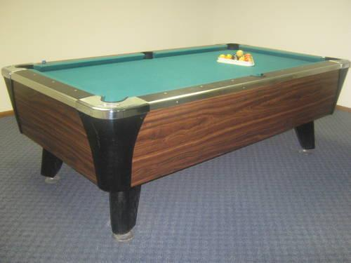 Antique 8 foot L Dynamo 1 piece Slate Awesome Condition Pool Table