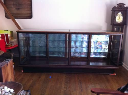 Excellent Antique 8 Oak Amp Glass Store Display Case Store Counter Door Handles Collection Olytizonderlifede