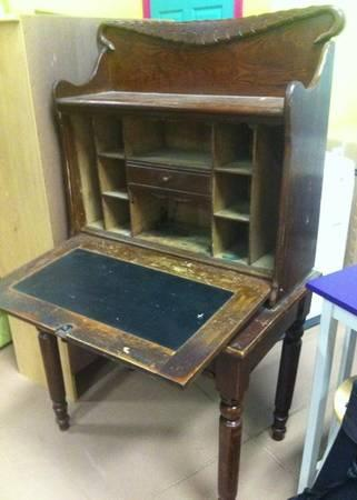 antique accountant's desk - $375