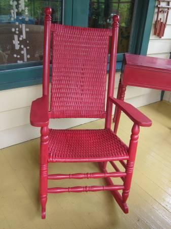 Antique Adirondack Country Wicker Porch Rocker - $225