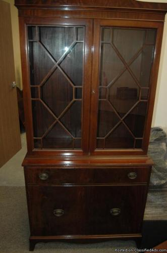 Antique American Chippendale China Cabinet Cup Board