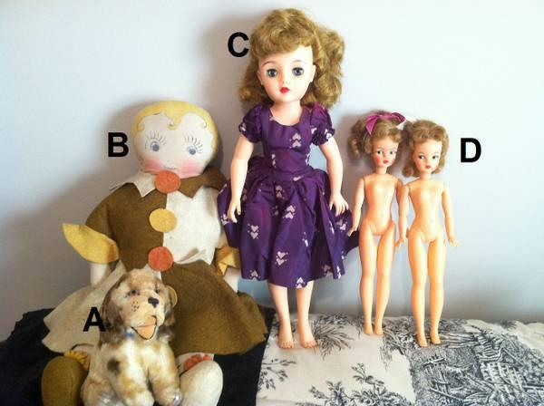 Antique and vintage dolls...bisque, vinyl, cloth