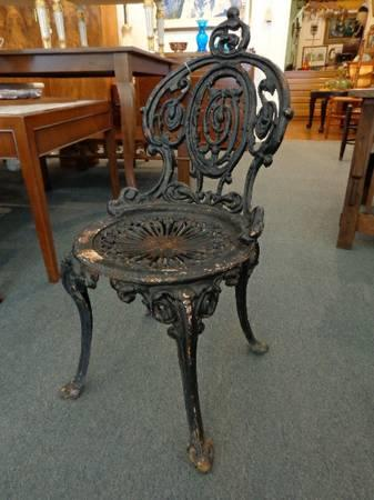 Antique Atlanta Stove Works Cast Iron Chair  Stool - $140