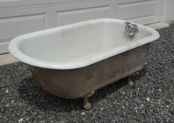 antique ball foot cast iron tub for sale in lehighton