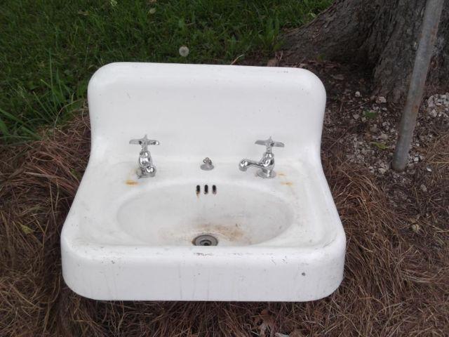 Antique Bathroom Cast Iron Sink