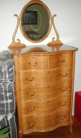 Antique Birdseye Maple Bedroom Set 8 Pieces   $4500