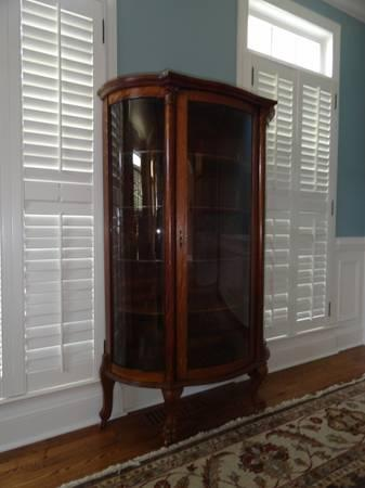 Antique Bow Front China Cabinet - $750